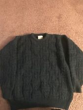 Carraig Donn Wool Sweater Mens Size X Large Ireland Fishermen Cable Knit Green