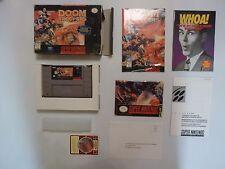 Doom Troopers SNES Super Nintendo *COMPLETE**100% CIB* w/CARD POSTER & REG !WOW!