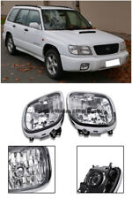 For 98-02 Subaru Forester Replacement Front Clear Lens Fog Lights Pair