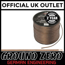Ground Zero - 100 Metre 18awg Gauge High Performance Flexible Speaker Wire Cable