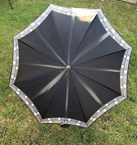 Regenschirm Christian Dior Vintage schwarz weiß