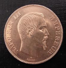 France 1857 A Gold 100 Francs AU Napoleon III