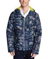 Nautica Mens Jacket Navy Blue Size 2XL Blue-Sail Full-Zip Windbreaker $118 #071