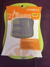 Casabella Bar Cutting Boards Set of 2 Green Yellow