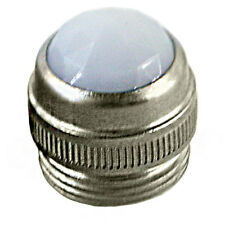 NEW White amp jewel pilot lamp lens with metal base fits most Fender Mesa Peavey