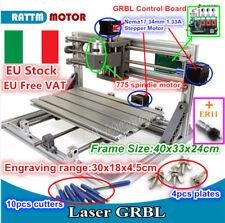 3018 Mini Desktop CNC Router PCB Wood Milling Engraving Laser Machine&Collet【IT】
