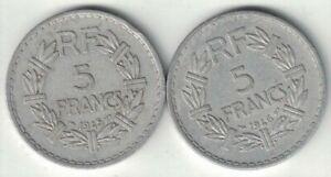 France 5 Francs – 1945C & 1946C