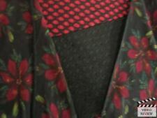 Robbie Bee 1X Dress, Lularoe L floral Monroe, burgundy belt (Dark Red/ Black)