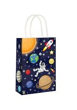 Space Paper Party Bags x 6 Spaceman Loot Bags Boys Birthday Favour Kids