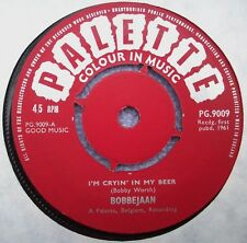 BOBBEJAAN I'm Cryin' In My Beer / A Little Bit Of Heaven UK PALETTE 1961 1st EX