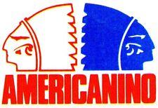 """""""AMERICANINO"""" ADESIVO LOGO CON GLI INDIANI VINTAGE (8 x 6) ANNI 80 (PANINARO)"""