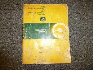 John Deere 8430 8630 4WD Tractor Owner Owner's Operator Manual Book OMR66836