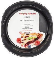 Morphy Richards 970506 Equip Round Pie Dish 25cm Graphite Oven Baking Pan