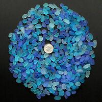 blue cobalt aqua sea beach glass small 100 pieces lots bulk 8-12mm jewelry use