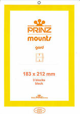 Package of 3 Prinz BLACK Mounts 183 x 212