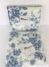 "JC Penney Salisbury 63"" Blue Floral Drape Lined Panel 40"" wide x 2"