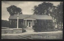 POSTCARD PETERBOROUGH NH/NEW HAMPSHIRE LOCAL AREA TOWN LIBRARY 1930'S