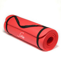 Sivan Health & Fitness 1/2-Inch Extra Thick 71-Inch Long NBR Foam Yoga Mat (Red)