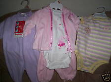 Infant Girls Onesie Outfits Convert A Foot Snugabye 0-3
