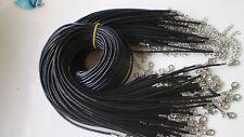 Wholesale lot bulk 10 pcs Fashion PU Man-made leather necklace cords black