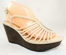 NIB B MAKOWSKY WILLOW WEDGE SANDALS CAGE BRAIDED STRAPS SLINGBACK Women's 9 39