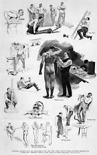 POLICE PHYSICAL EXAMINATION 1895 NEW YORK POLICE FORCE PATROLMEN LIFTING WEIGHTS