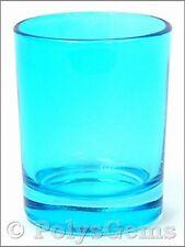 12 x QUALITY AQUA GLASS WEDDING TABLE VOTIVE HOLDERS BY SHEARER CANDLES