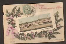 ESSONNE (91) USINE PAPETERIE , Souvenir fleuri ROSES en 1906