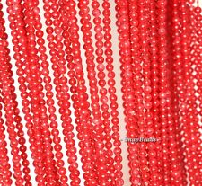 """2MM CORAL RED AGATE GEMSTONE RED ROUND 2MM LOOSE BEADS 16"""""""
