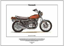 KAWASAKI Z1 Superbike Fine Art Print - 900cc Z1000 Z-1 Z1 Four Cylinder The King