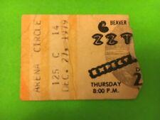 Zz Top 1979 St. Louis Arena Concert Ticket Stub Expect No Quarter Tour Vintage