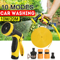 High Pressure Water Spray Nozzle Power Car Washer Garden Pipe Lawn 20m Hose