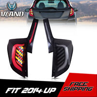 VLAND LED Reversing Tail Lights Clear Rear Lamps For 2015-2019 Honda Fit