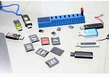 Soporte para caja de caja de almacenamiento de tarjeta de memoria con ranuras para tarjetas SD SDHC MMC Micro Sd