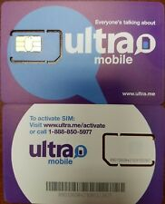 Ultra Mobile STANDARSIM  Prepaid, SIM CARD UNACTIVATED. WORK WITH TMOBILE PHONE