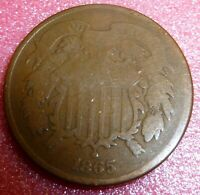 1865  Two Cent Coin        #65-2