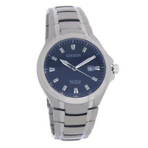 Citizen BM7431-51L Men's Titanium Blue Dial Paradigm Eco-Drive Watch