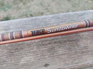 Vintage Zebco Sundowner Model 1950 7' Medium Action Spinning Rod.
