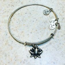"""Lotus Blossom Petals"" Woman And Infants Alex and Ani Bangle Bracelet Tone"