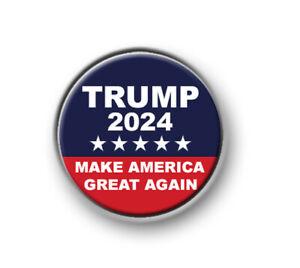 "TRUMP 2024 / 1"" / 25mm pin button / badge / President / USA / election / rally"