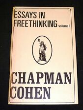 Essays in Freethinking Volume II - Chapman Cohen (Softcover, 1981)