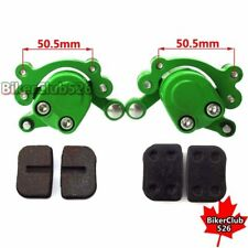 Green Front & Rear Disc Brake Caliper Pads For 47cc 49cc Mini Moto Goped Scooter