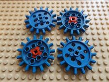 4 x LEGO TECHNIC Gear Expert Builder 15 Tooth Vintage Part 1970's In Blue