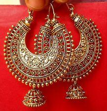 Indian Earring Bollywood Ethnic Jewelry Gold Tone Oxidized Pearl Jhumka Jhumki