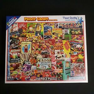 WHITE MOUNTAIN Penny Candy 550 Piece Puzzle By Lois B. Sutton #1037 NEW & SEALED