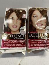 ☀️ (2Pcs) L'OREAL Excellence Creme Hair Color - 5RB Medium Reddish Brown OpenBox