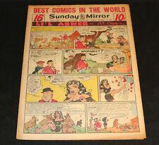 1951 Sunday Mirror Weekly Comic Section October 14th (Vf) Superman Wayne Boring