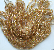 Classic Gold Vintage Antique Round SL Glass Seed Beads FOUR Mini Hanks (6107731)