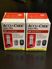 NIB Accu-Chek Aviva Plus Glucose Test Strips NFRS 2 boxes of 50ct(100) 12/19