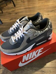 Nike Air Max 90 Enigma Stone Iron Grey White Off Noir CT1688-001 Size 12